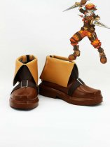 Hack//G.U. Kite Brown Leather Cosplay Boots