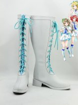 LOVE LIVE! White Artificial Leather Copslay Boots