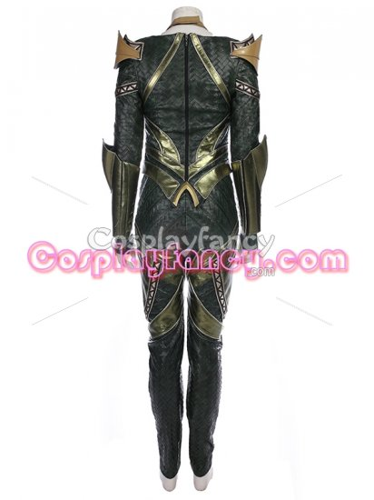 Mera Costume Justice League Version Mera Armor Cosplay Costume - Click Image to Close