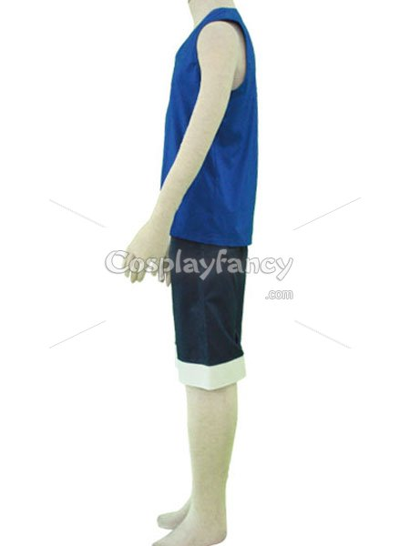 One Piece Cosplay Monkey D Luffy Blue Costume
