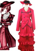 Black Butler Cosplay Madame Red Angelina Dalles Cosplay Cotume