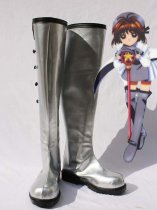 Cardcaptor Sakura Cosplay Sakura Kinomoto Silver Artificial Leather Cosplay Boots