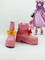 Touhou Project Patchouli Knowledge Pink Cosplay Boots