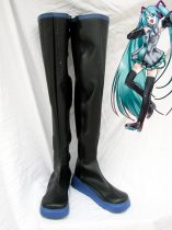 Vocaloid Cosplay Hatsune Miku Black Long Cosplay Boots