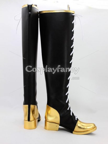 Vocaloid Project Diva F Kaito Cosplay Boots - Click Image to Close