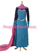 Frozen Elsa the Snow Queen Crowned Full Dress Cosplay Costume