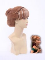 Frozen Princess Anna of Arendelle Crowned Cosplay Wig