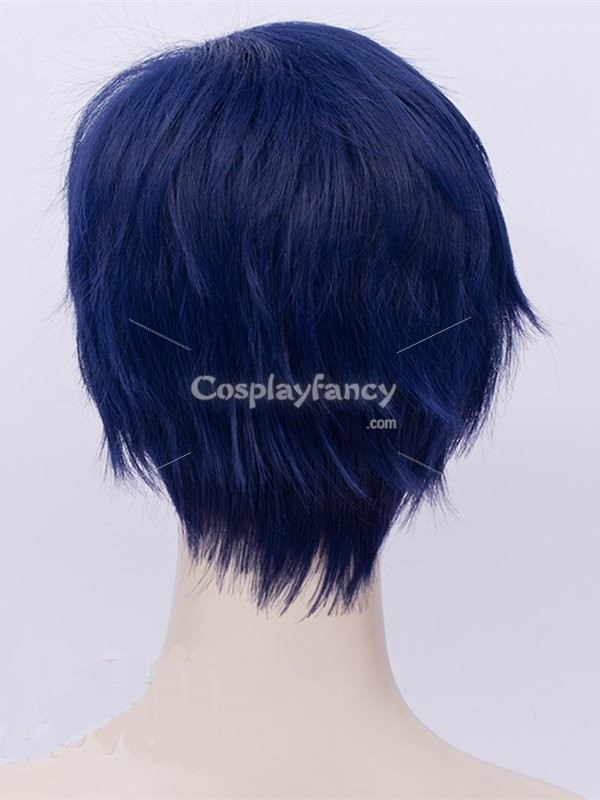 My Hero Academy Tenya Iida Anime Blue Cosplay Wig