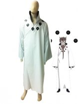 Naruto Hagoromo Otsutsuki White Overcoat Cosplay Costume
