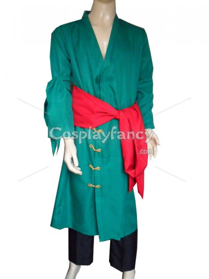 One Piece Cosplay Uniform Cloth Roronoa Zoro Suit - Click Image to Close
