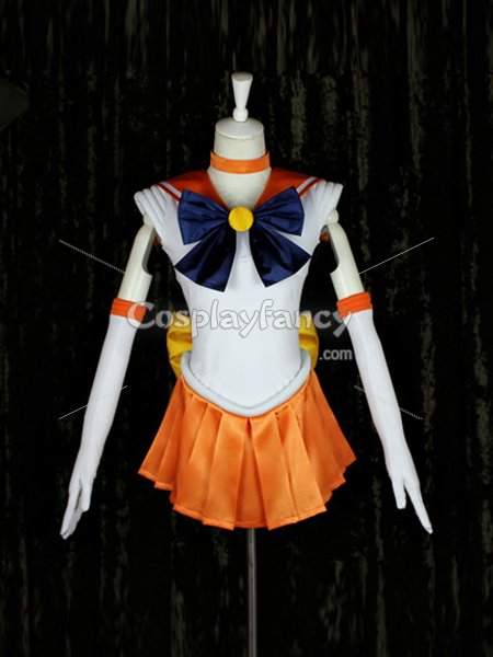 Sailor Moon Cosplay Minako Aino/Sailor Venus Orange Cosplay Costume