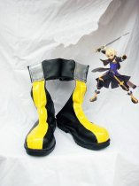 Tales of Symphonia Emil Castagnier Black & Yellow Cosplay Boots
