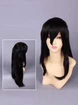 Touhou Project Reimu Hakurei Black Cosplay Wig