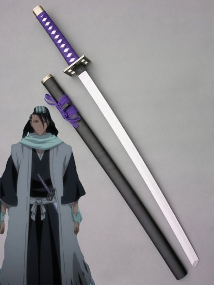 BLEACH Kuchiki Byakuya Senbonzakura Wood Weapon Cosplay Sword