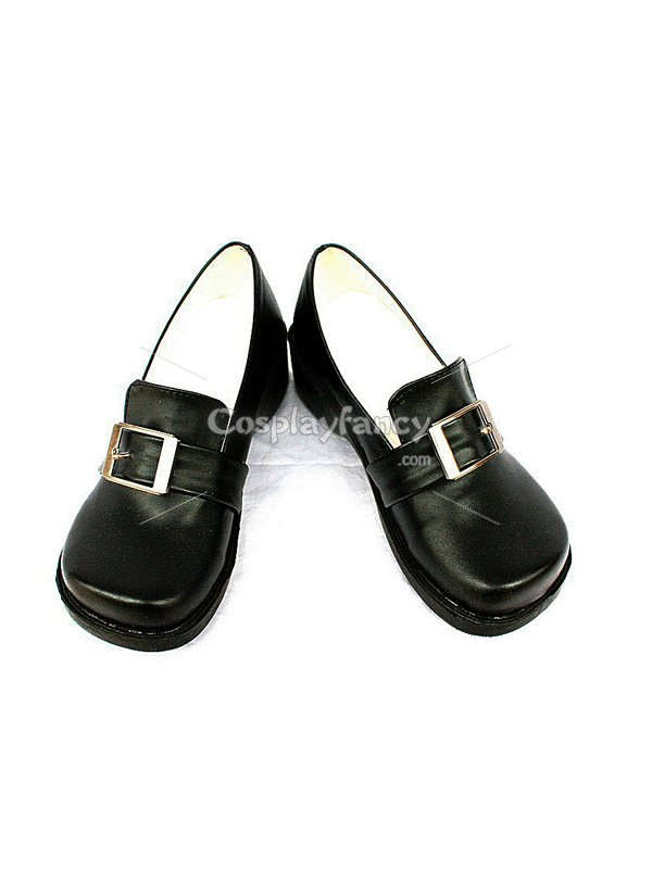 Black Butler Ciel Black Cosplay Flat Leather Shoes
