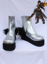 ELSWORD Raven Black & Silver Cosplay Boots
