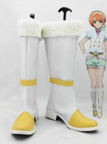 Love Live! Hoshizora Rin White & Yellow Cosplay Boots
