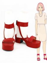 Naruto Cosplay Sakura Uchiha Red Cosplay Shoes
