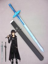 New Sword Art Online Kirito's Blue Sword Wood Cosplay Sword Dark Repulsor