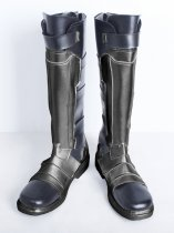 Overwatch SOLDIER:76 Male Verson Black & Sliver Cosplay Boots