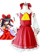 Phantasmagoria Of Dim Dream Coplay Reimu Hakurei Cosplay Costume