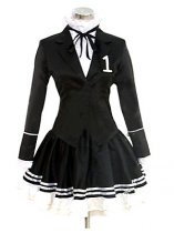 Vocaloid Secret Policeman Hatsune Miku Cosplay Costume Black Dress