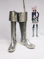 Vocaloid Silver Artificial Leather Cosplay Boots