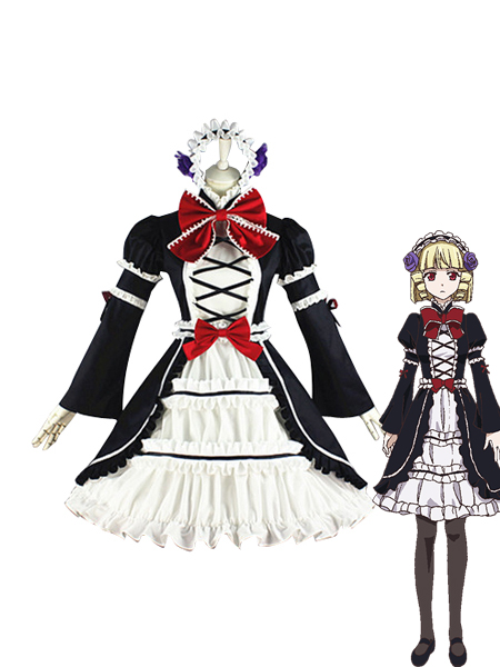 Brynhildr in the Darkness Kana Tachibana Cosplay Costume/Gothic Dress