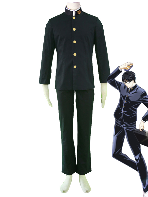 Haven't You Heard? I'm Sakamoto Sakamoto Black Zhongshan School Uniform Cosplay Costume