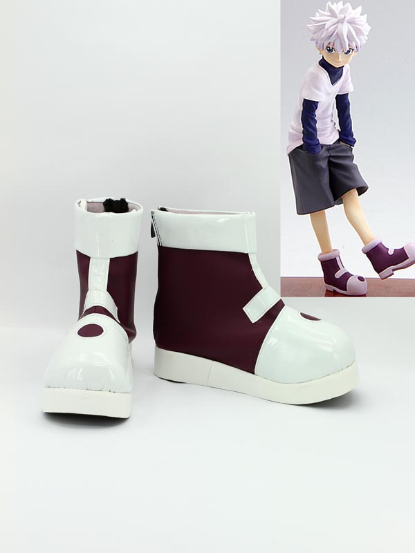 Hunter X Hunter Killua Zaoldyeck White Cosplay Boots