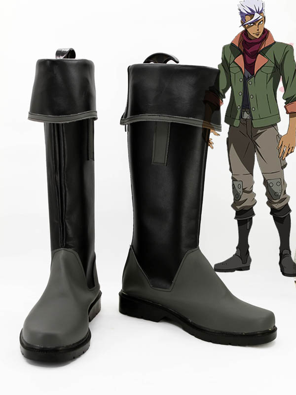 Mobile Suit Gundam: Iron-Blooded Orphans Tekkadan Orga Itsuka Leader Uniform Cosplay Boots