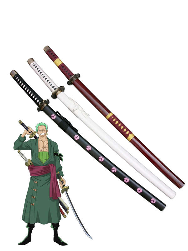 New One Piece Cosplay Roronoa Zoro Whole 3 Cosplay Weapon Wood Swords