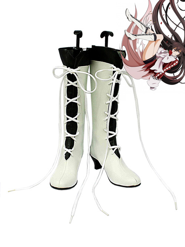 Pandora Hearts Alice Baskerville White and Black Cosplay Boots