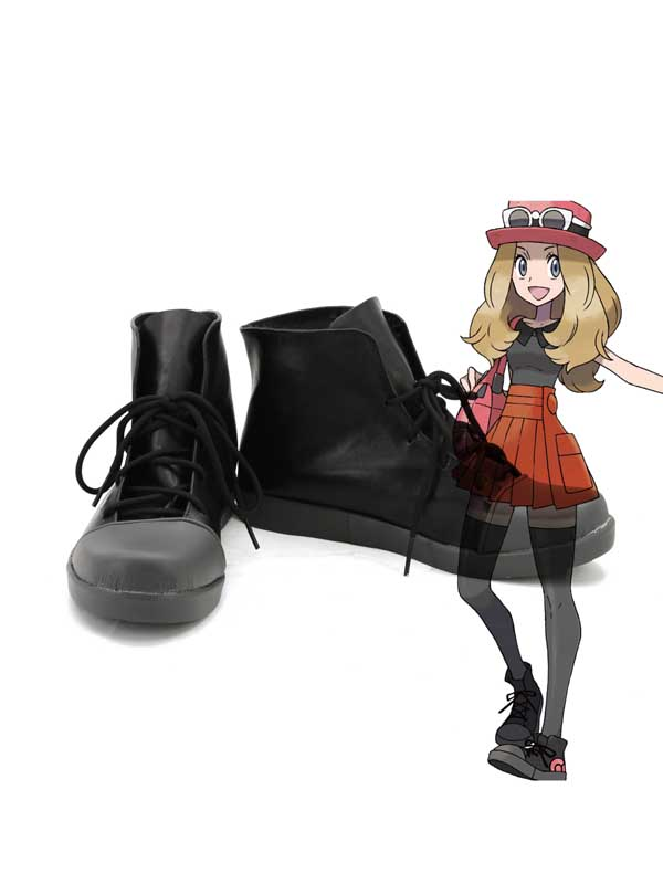 Pokemon Cosplay Black Short Cosplay Boots