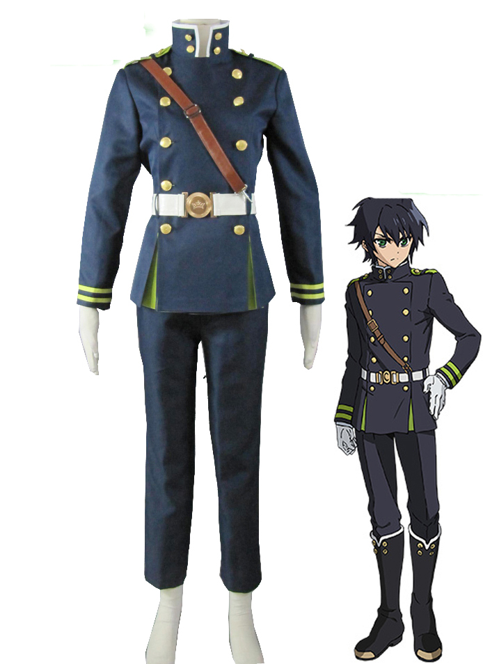 Seraph of the End The Moon Demon Company Yuichiro Hyakuya Uniform (no Mantle and Hat) Anime Cosplay Costume