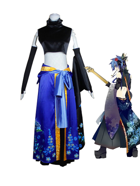 Vocaloid Cosplay Kaito Fleeting Moon Flower Cosplay Costumes